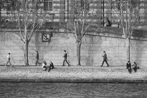 Synchronicité sur les quai de Seine
